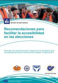 portada Recomendaciones sobre cómo hacer las elecciones accesibles - Inclusion Europe