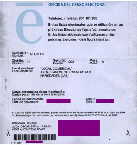 ejemplo tarjeta censal
