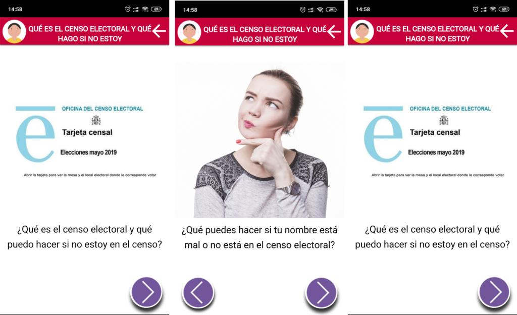 capturas de pantalla apoyo censo electoral