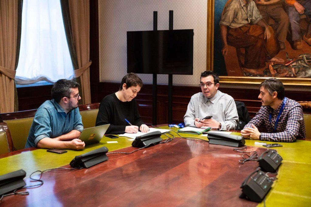 David Vila, Teresa Arévalo, Antonio Hinojosa y Fermín Núñez