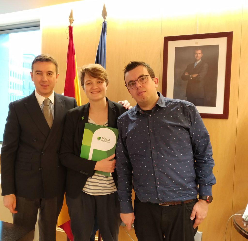 Ignacio Gutiérrez, Olga Berrios y Antonio Hinojosa