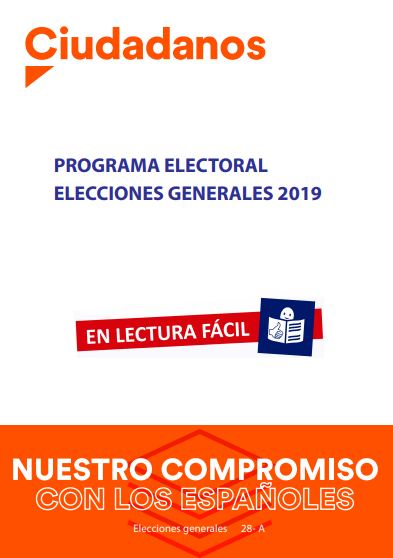 portada ciudadanos programa elecciones generales