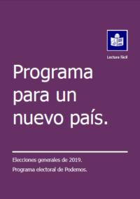 portada podemos programa elecciones generales 2019 LF
