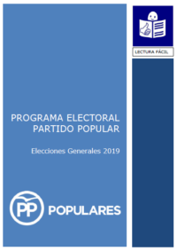 portada programa electoral pp