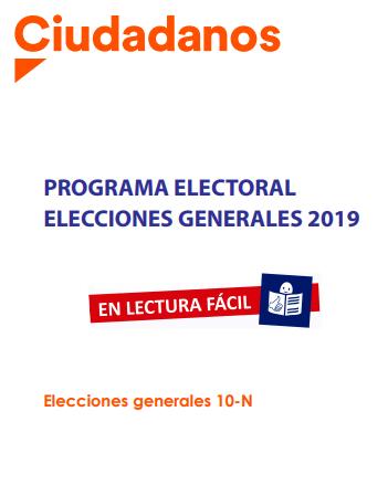 ciudadanos portada programa electoral 10N