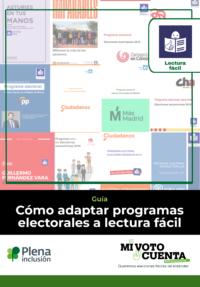 portada guía Cómo adaptar programas electorales a lectura fácil