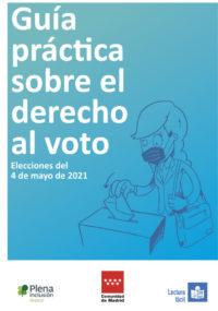 portada Guía práctica sobre el derecho al voto 2021